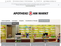 Apotheke am Markt website screenshot