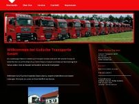 Gutsche Transporte GmbH website screenshot