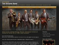 Tom Browne Band website screenshot