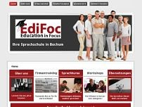 EdiFoc - Education in Focus website screenshot