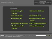 Holiday Inn Munich website screenshot