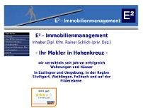 E²-Immobilienmanagement website screenshot