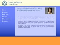 Susanne Blohm website screenshot