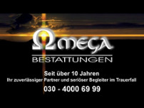 Omega-Bestattungen website screenshot