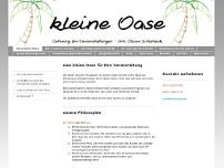 Kleine Oase website screenshot