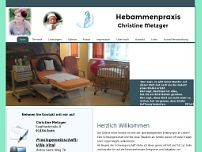 Hebamme Christine Metzger website screenshot