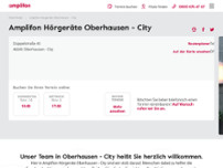 Amplifon Hörgeräte website screenshot