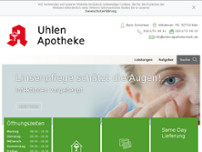 Uhlen Apotheke website screenshot