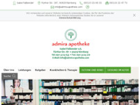 Admira-Apotheke website screenshot