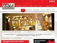Cafe Extrablatt website screenshot