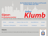 Werner Klumb website screenshot