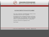Peter Becker website screenshot