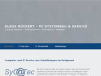 Klaus Rückert - PC Systembau & Service website screenshot
