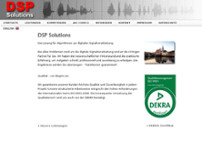 DSP Solutions GmbH & Co.KG website screenshot