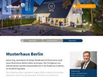 allkauf haus - Musterhaus Berlin website screenshot