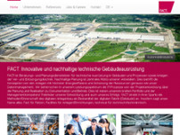 FACT GmbH eFacilities Solutions website screenshot