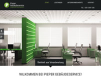 Pieper Gebäudeservice website screenshot