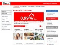 Hamburger Sparkasse website screenshot