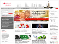 Sparkasse Koln/Bonn Hauptstelle website screenshot
