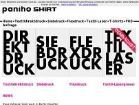 paniho SHIRT website screenshot