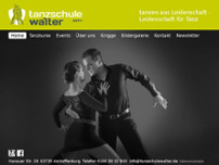 Tanzschule Walter website screenshot