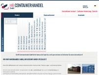 HR Containerhandel GmbH website screenshot