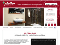 Pfeifer GmbH website screenshot
