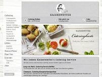 Kaiserwetter Catering website screenshot
