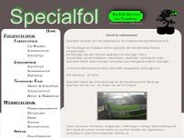 Specialfol website screenshot