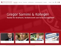 Gregor Samimi website screenshot