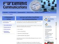 Four-Elements-Communications website screenshot