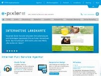 e-pixler NEW MEDIA GmbH website screenshot