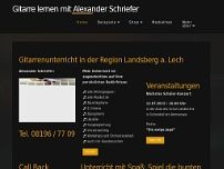 Alexander Schriefer website screenshot