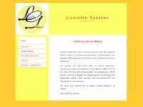 Liselotte Gantner website screenshot