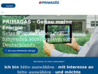PRIMAGAS Energie GmbH & Co. KG website screenshot