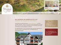 Gästehaus Winneburger Hof website screenshot