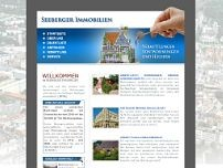 Seeberger Immobilien und Planung website screenshot
