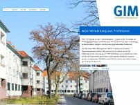 GIM Immobilien Management GmbH website screenshot