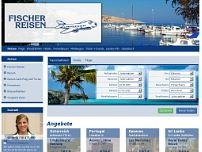 Fischer Reisen website screenshot