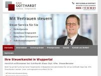 Dipl.-Kfm. Klaus Gotthardt Steuerberater website screenshot