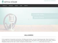 Bettina Römer website screenshot