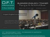 O.F.T Business Englisch Trainer website screenshot