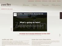 zweifilm Filmproduktion Berlin website screenshot