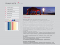 Zeltkontor by Maier Bros. GmbH website screenshot