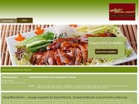 King-Men - China-Restaurant website screenshot