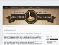 Spandauer Bierbrunnen website screenshot