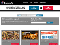 Domino's Pizza Magdeburg Altstadt website screenshot