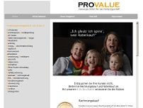 PROVALUE GmbH website screenshot