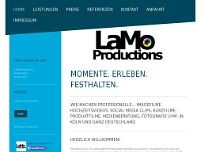 LaMo Productions website screenshot