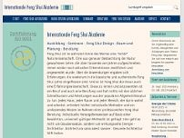 Internationale Feng-Shui Akademie Mark Sakautzky website screenshot